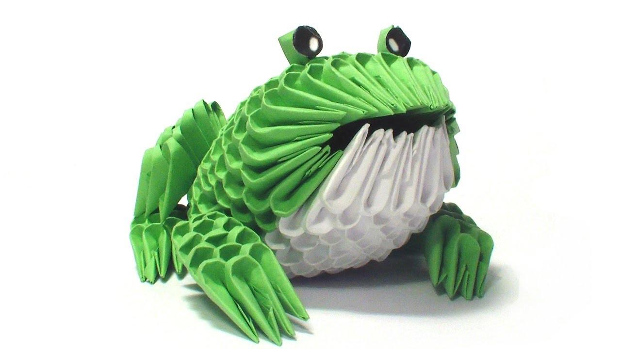 3D origami frog tutorial