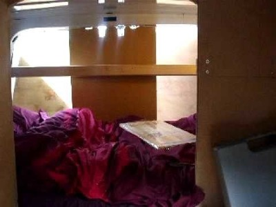 6. Self Build DIY Motorcaravan.Cupboard framing, step construction, & bed area