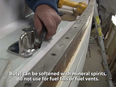 Bedding Deck Hardware Using Through Bolts & Butyl Tape