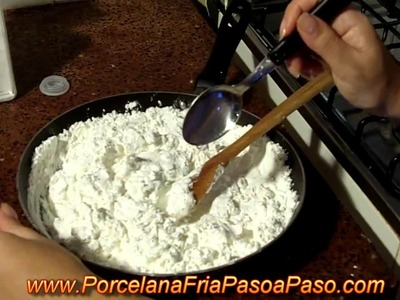 Como Hacer Porcelana Fria (1de2) - How to make cold porcelain