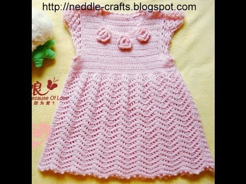 Crochet dress| How to crochet an easy shell stitch baby. girl's dress for beginners 63