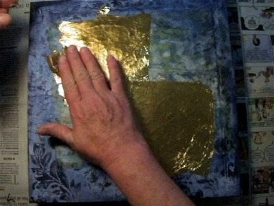 Demented Gold Leaf - Mixed Media Tutorial