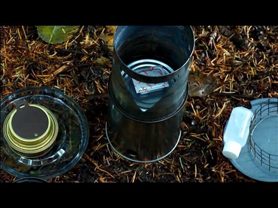 DIY 4 in 1 Backpacking Wood Gas, Wood, Esbit and Alcohol Stove(s)