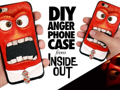 DIY | Anger From INSIDE OUT Phone Case Tutorial - Polymer Clay How-to REALLY WORKS!