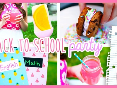 DIY Back To School Party ♡ DIY School Supplies, Decor & Snacks