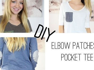 DIY Elbow Patches & Pocket Tee