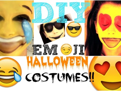 DIY Emoji Halloween Costumes!