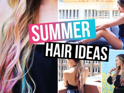 DIY.How To Hair Chalk & Easy Summer Hairstyles! | LaurDIY