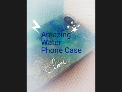 DIY water.ocean.blue.sea glitter phone case