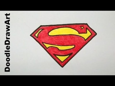 Drawing: How To Draw The Superman Logo - Step by Step - Easy!