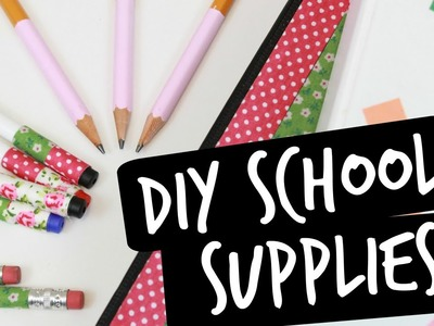 Easy DIY Ways to Decorate Your School Supplies