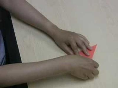Folding an origami paper crane