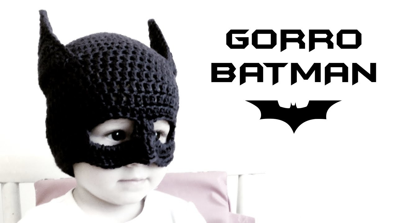Gorro de BATMAN a Crochet (todas las tallas) | How to crochet a Batman beanie