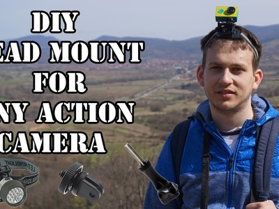 How to create DIY Head mount for action camera GoPro, SJCAM, Xiaomi Yi