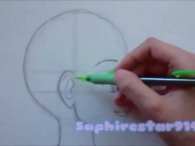 How to draw Manga- Anime Head in Profile Side View Tutorial(Shoujo.Kodomo)