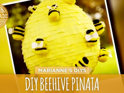 How To Make a Beehive Piñata- HGTV Handmade