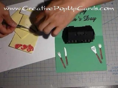 How to make a Father's day, Housewarming Pop Up Card: Barbecue grill Tutorial