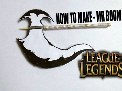 How To Make A Paper AXE Weapons ~Style League of Legend ~ paper craft