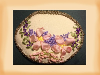 How to make a silk ribbon embroidery dog rose