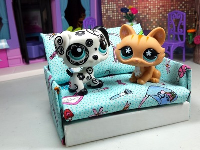 How to Make a Tiny LPS Sofa Couch ♦ Dollhouse Furniture: Easy Doll DIY