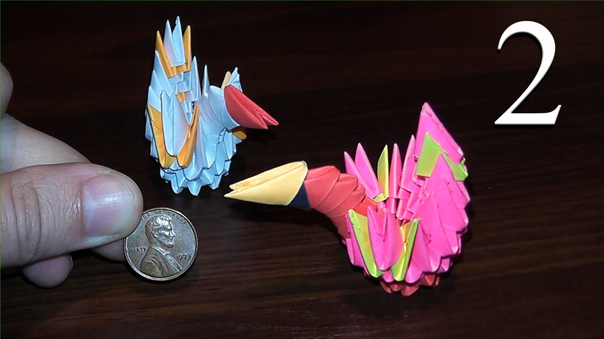 How to make mini swan out of paper tutorial 3D origami
