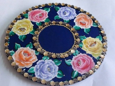 How to paint Roses on a tray