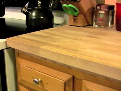 Ikea DIY Kitchen Countertop Numerar - cheap butcher block hardwood and great value