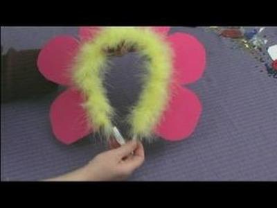 Making Foam Masks for Kid's Crafts : Making a Flower Hat