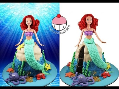 MERMAID CAKE! Make a Princess Ariel Little Mermaid Cake - A Cupcake Addiction How To Tutorial