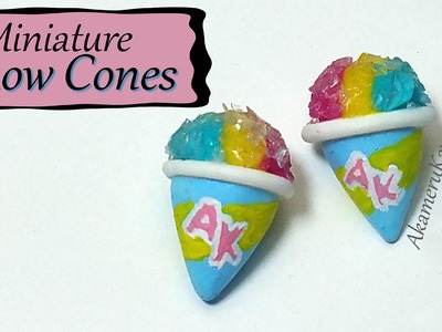 Miniature Snow Cones - Polymer Clay tutorial
