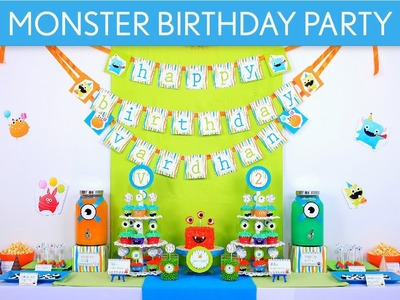 Monster Birthday Party Ideas. Monster - B5