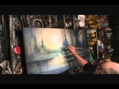 "Painting Demo winter Landscape art ""Warm Chill"" by Mix Lang,"
