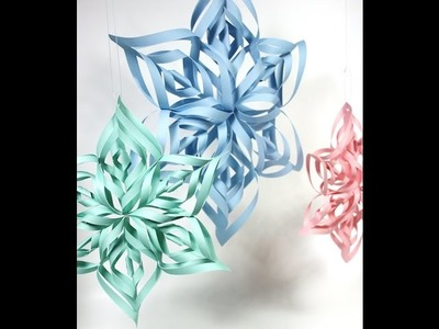Paper craft art -  Kirigami tutorial (snowflakes, rose, heart. )