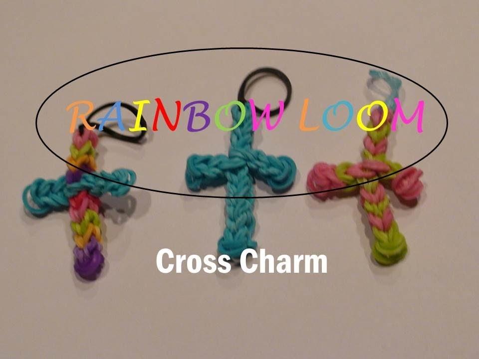 Rainbow Loom: How to Make A Cross Charm with one Loom