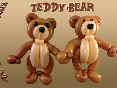 Teddy Bear Balloon Animal Tutorial (Balloon Twisting and Modeling #20 )