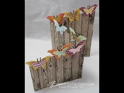 Tri fold Butterflies Z Card frenchiestamps.com