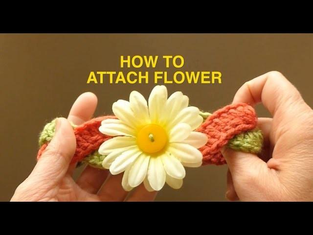 WATCH How 2 Attach Fake Flower 2 a Headband