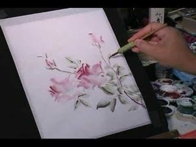 Watercolor Painting Demo - Roses w. Bees