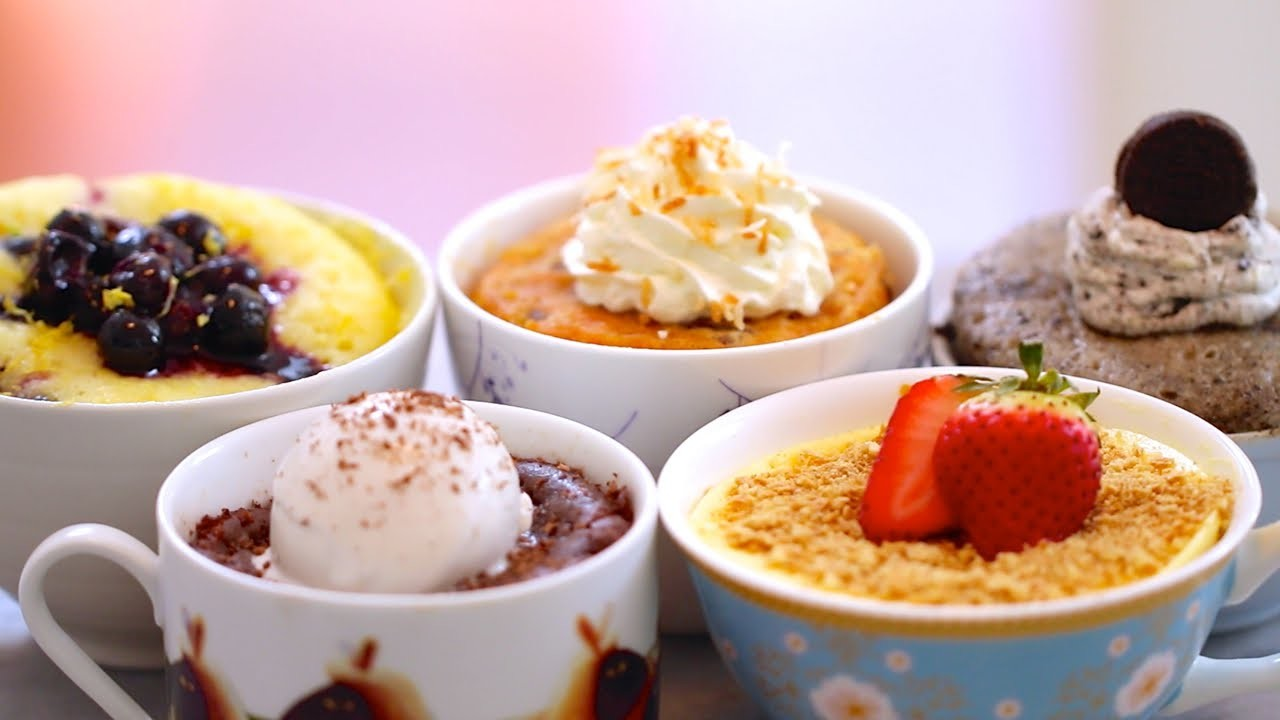 1 Minute Mug Cakes Made in the Microwave (including Vegan, Egg-Free & Gluten-Free Recipes)