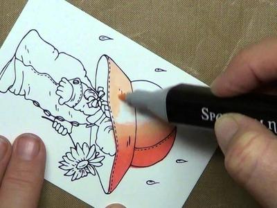 Basic blending and highlighting using Spectrum Noir Pens