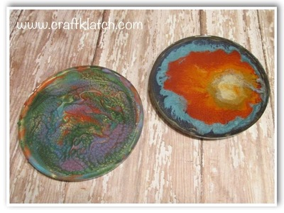 DIY Pebeo Prisme & Moon Paints  Another Coaster Friday