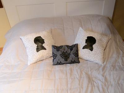 DIY Sherlock pillows