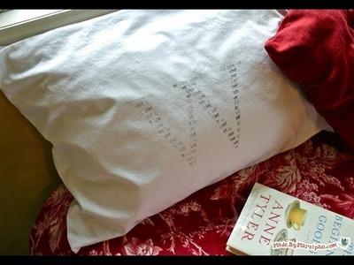 DIY Stamped Monogram Pillowcase
