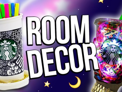 DIY STARBUCKS ROOM DECORATIONS ♥ Recycling Edition!