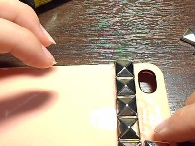 DIY Studded iPhone Case(Without having flat stud backs)