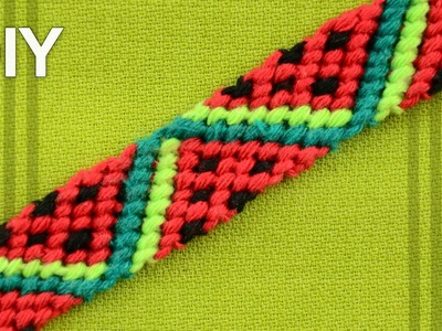 Friendship Bracelet - Watermelon Slices. DIY Tutorial
