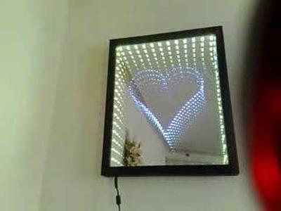 Heart Infinity Mirror-www.Infinitymirrorart.com