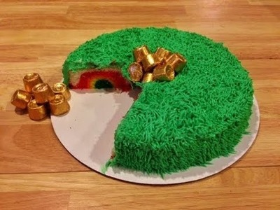 Hidden Rainbow Cake - St. Patrick's Day