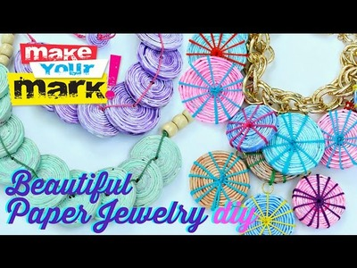 How to: Beautiful Recycled Paper Jewelry