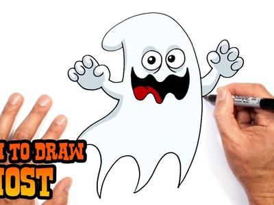 How to Draw a Halloween Ghost- DIY Halloween Decorations